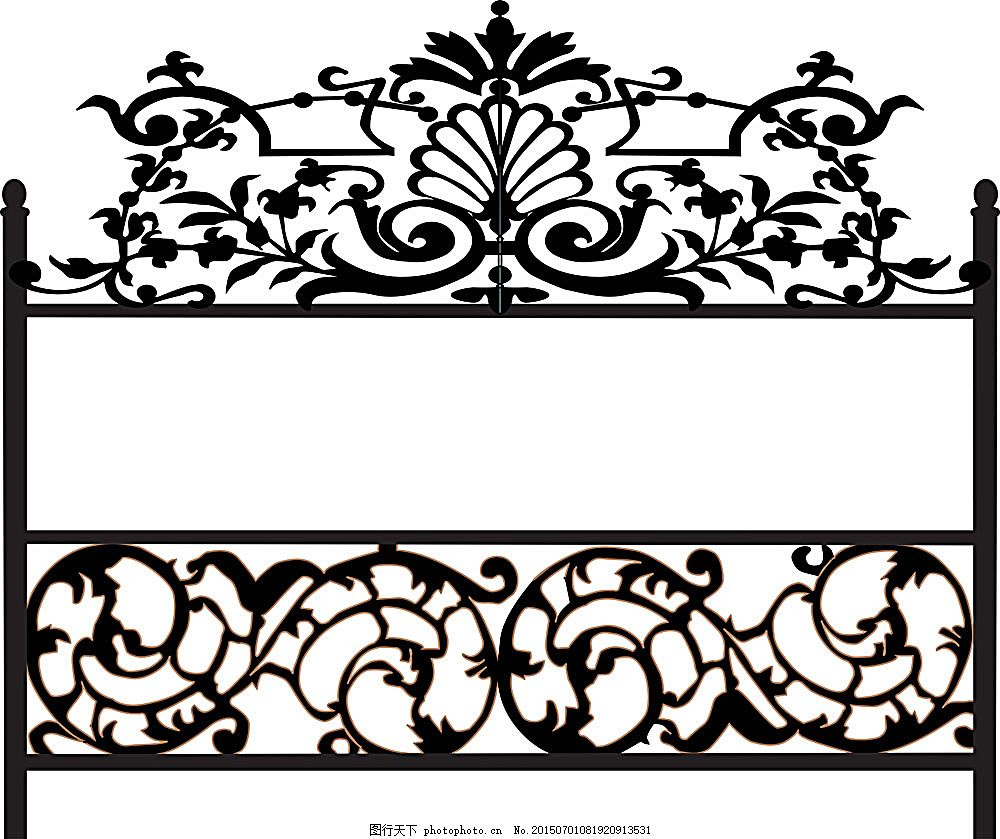 植物投影栅栏设计 植物 投影 栅栏 铁门 线条图 门 铁艺 其他模板