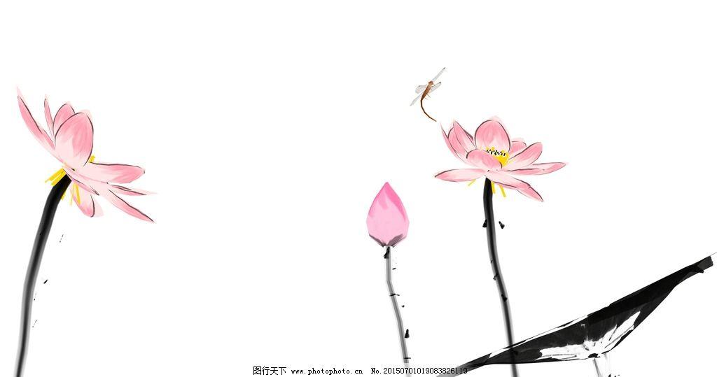 中国画图片简单漂亮-白描花卉 周天民 中国画图片