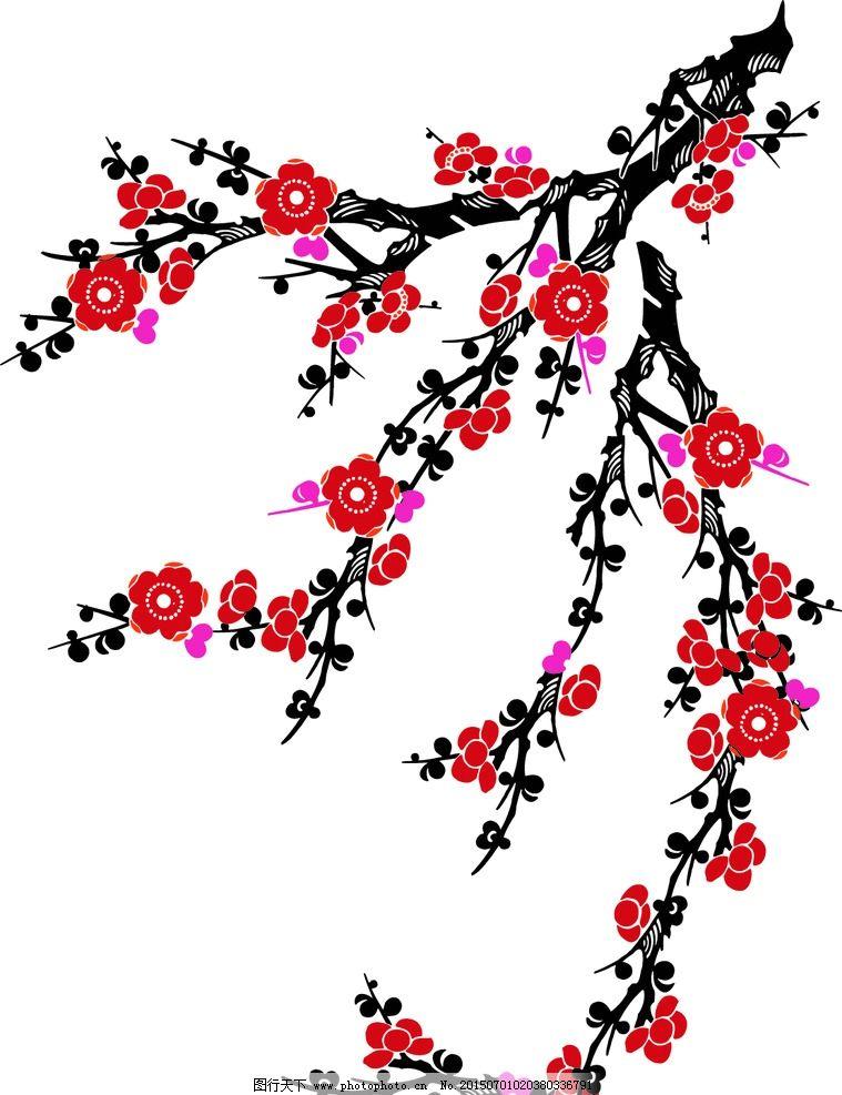 黑板报边框樱花