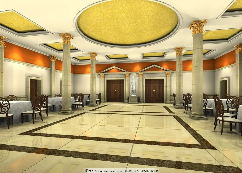 大堂效果图 你好吗 大唐的地板 大堂的素材 大堂的天花 设计 环境设计图片