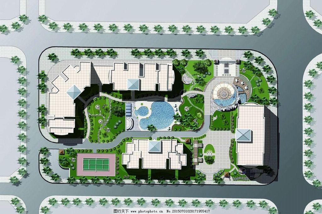 平面效果图 建筑规划 彩色平面图片_景观设计_环境_图
