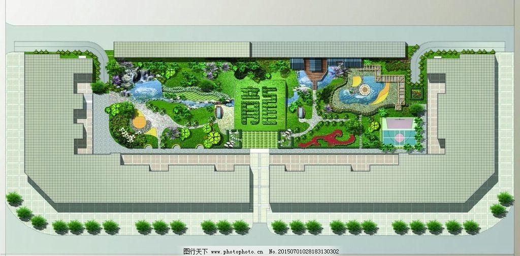 景观平面 设计图彩图 平面效果图 建筑规划 彩色平面图 彩平 规划平面