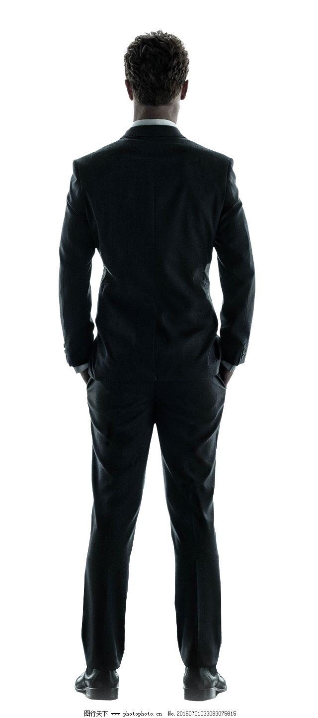 西装男人背影头像