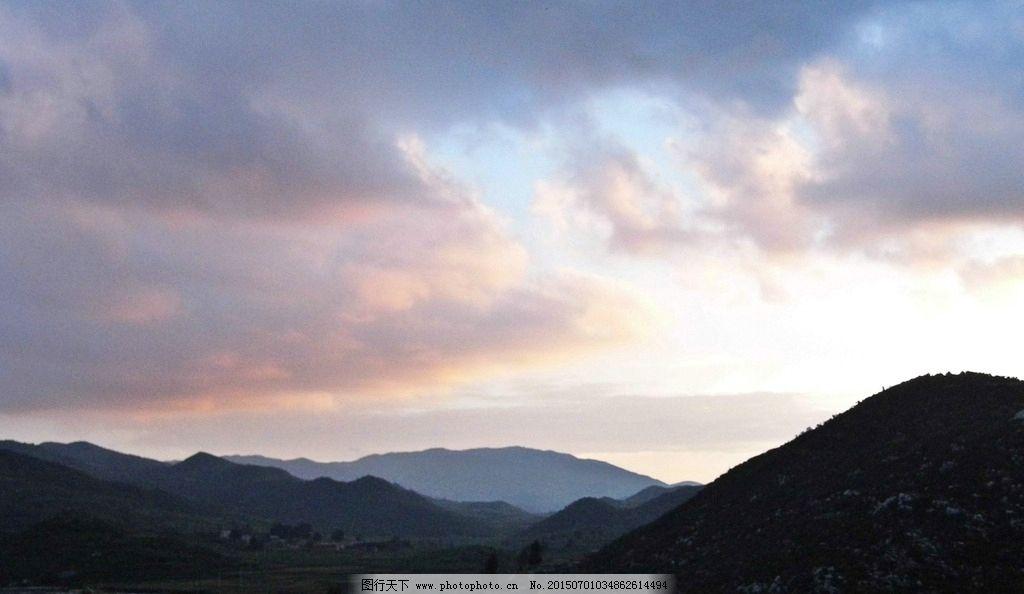 云南省 宣威市 热水镇 花鱼村 晚霞 摄影 自然景观 自然风景 72dpi