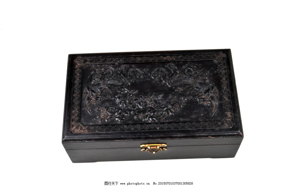 古董盒 古董 红木 木盒 首饰盒浮雕 雕刻 珠宝盒 古代摆件 其他 源