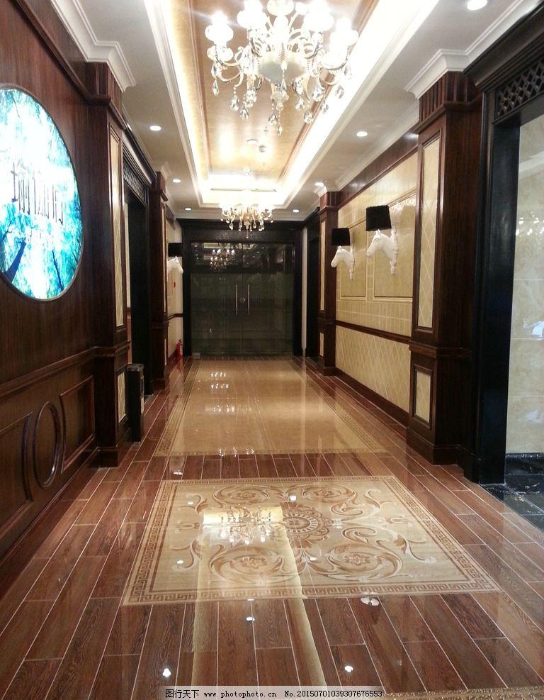 瓷砖展厅走廊 展厅通道 欧式风格 拼花地面 陶瓷展厅走廊  摄影 建筑