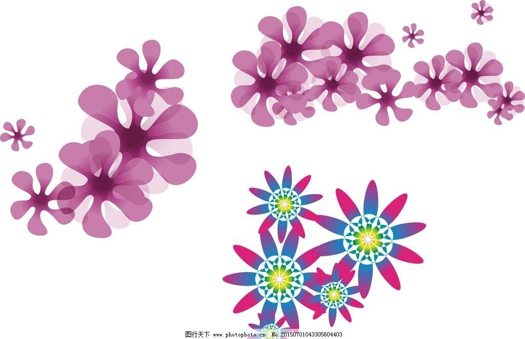 手绘插图 手绘素材 矢量花朵 矢量素材 各种花朵 素材 花藤 盛开 绽放