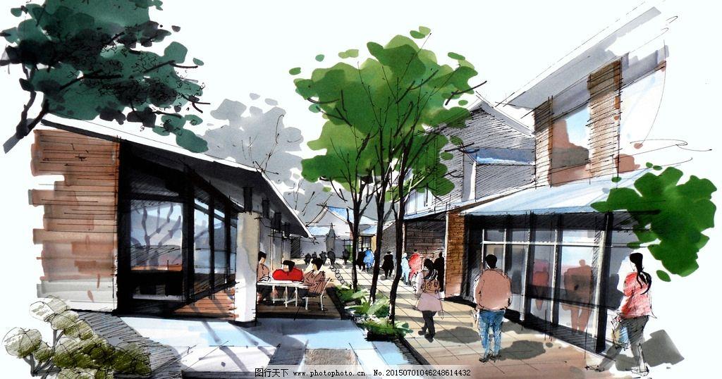 建筑 设计 环境        手绘 马克笔 设计手绘 设计 环境设计 建筑