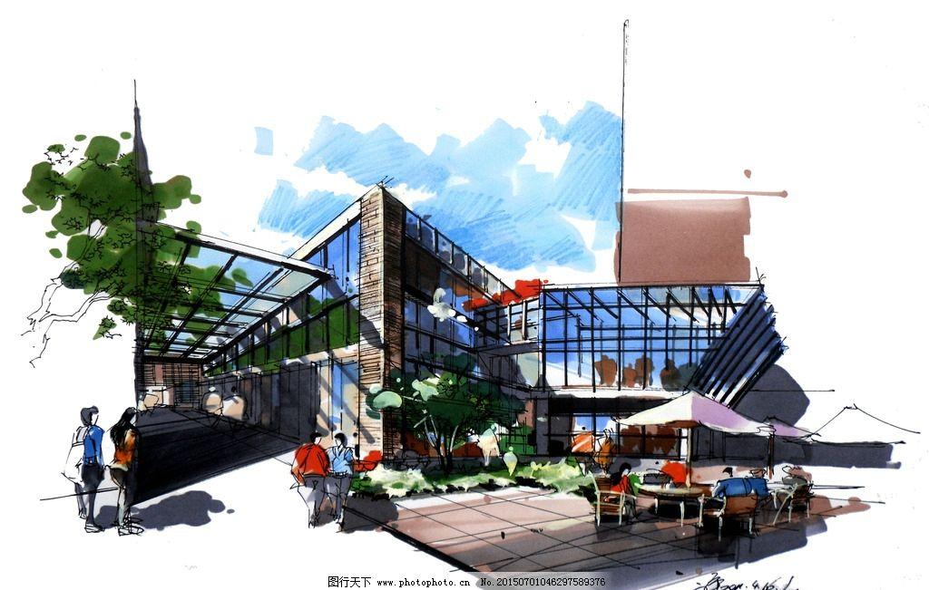 建筑 设计        手绘 马克笔 景观 设计手绘 设计 环境设计 建筑
