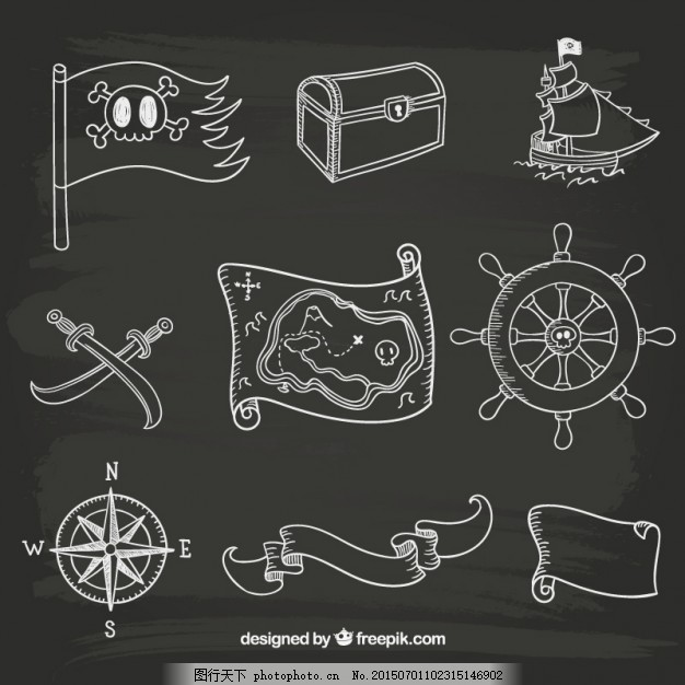 手绘水手图标