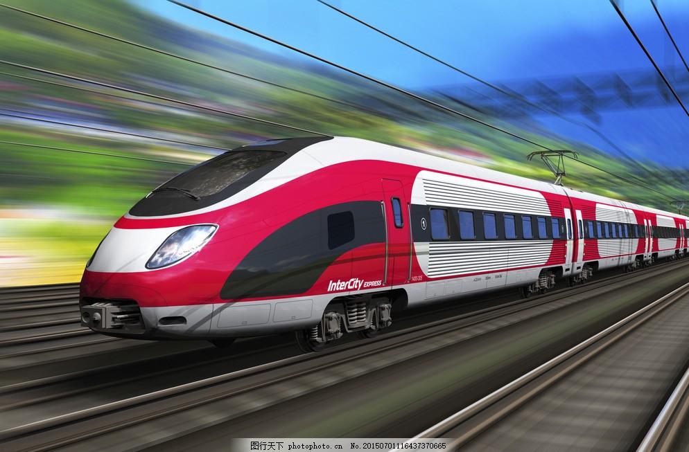 高铁 铁轨 风驰电掣 和谐号 铁路 火车 轨道 列车 摄影 现代科技 交通