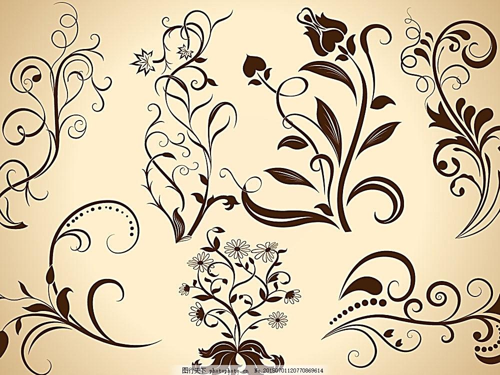 矢量素材 花纹 花纹底纹 底纹背景 花纹花边 底纹边框 eps 白色 eps