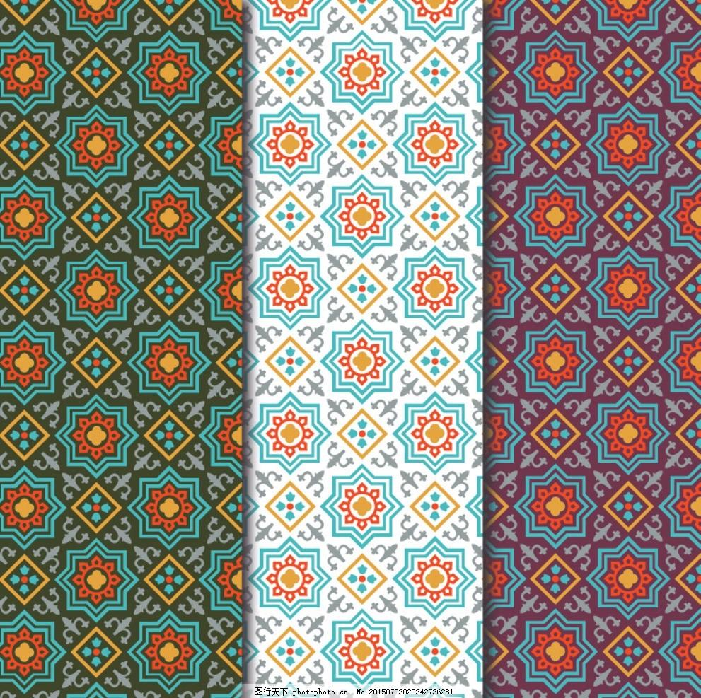 阿拉伯风格无缝背景 阿拉伯风格 时尚背景 欧式背景 窗帘 墙纸 壁纸
