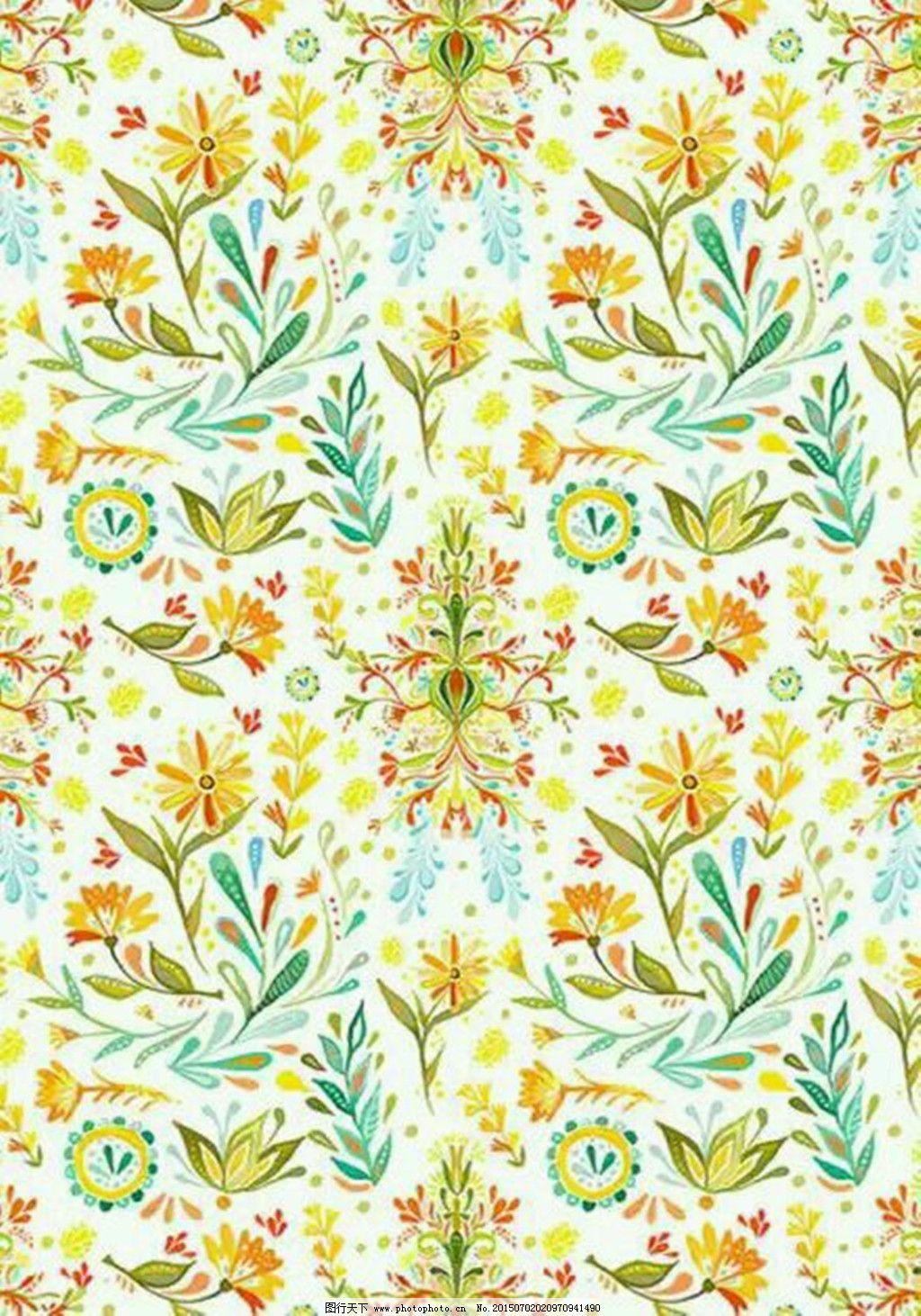 名族感花朵背景图免费下载 彩色 可爱 轻松 输液 碎花 小清新 小清新