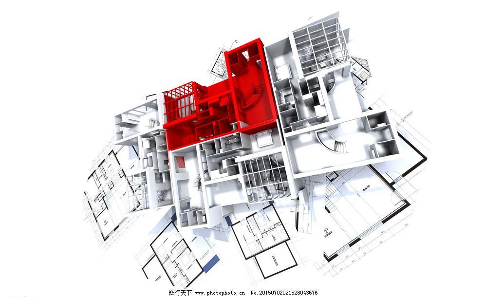 3d立体建筑施工绘图图片