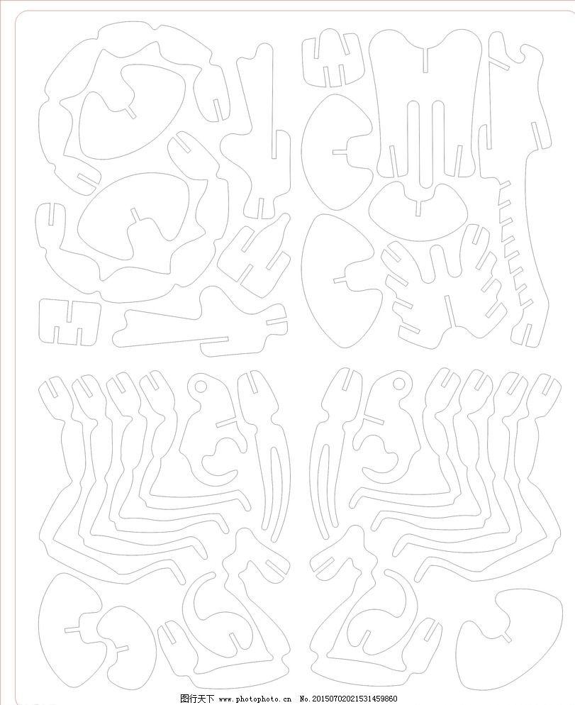 3d蝎子木板拼图 激光图片