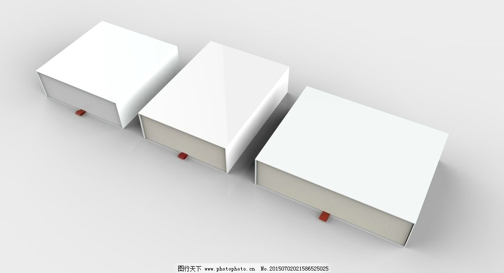 方形 包装盒 模型 贴图模型 白色盒子 礼盒 设计 3d设计 其他模型 72