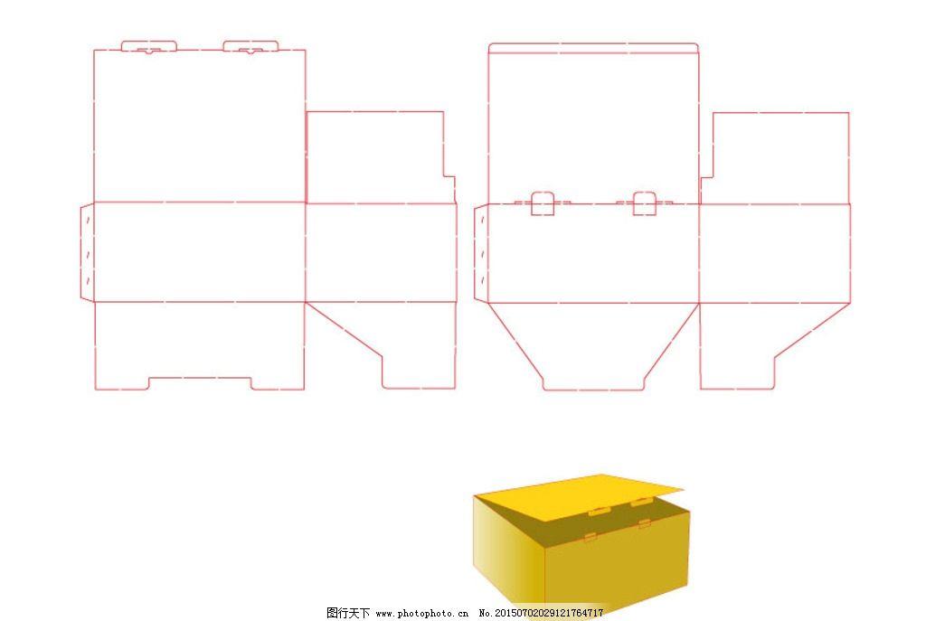 矢量图 结构图 包装盒 包装结构 包装设计 矢量图库 盒型 盒子 包装