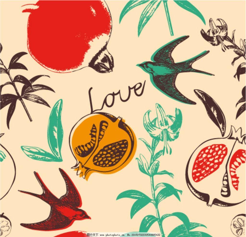 手绘燕子图片