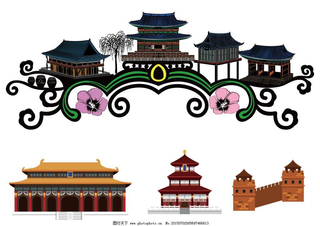 中国古建筑免费下载 故宫 建筑 中国 中国 建筑 故宫 矢量图 建筑家居