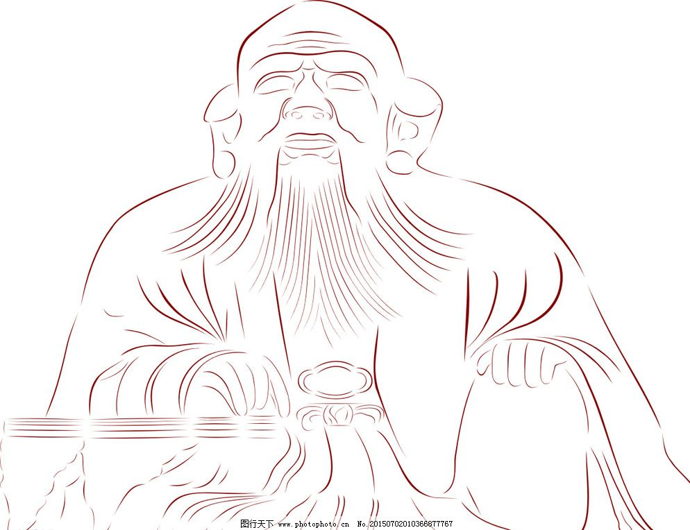 老君岩简笔画图片