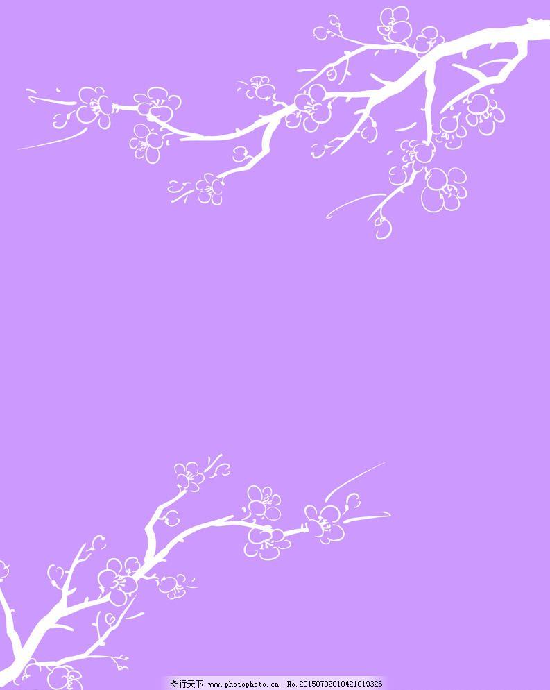 桃花图片免费下载 cdr 白色 底纹边框 工艺 花 花蕊 花纹 设计 树枝