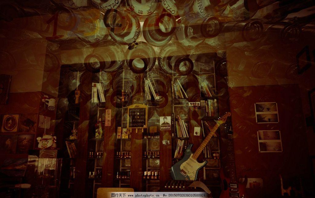 酒吧 摄影 多重曝光 啤酒瓶子 青岛 摄影 建筑园林 室内摄影 240dpi