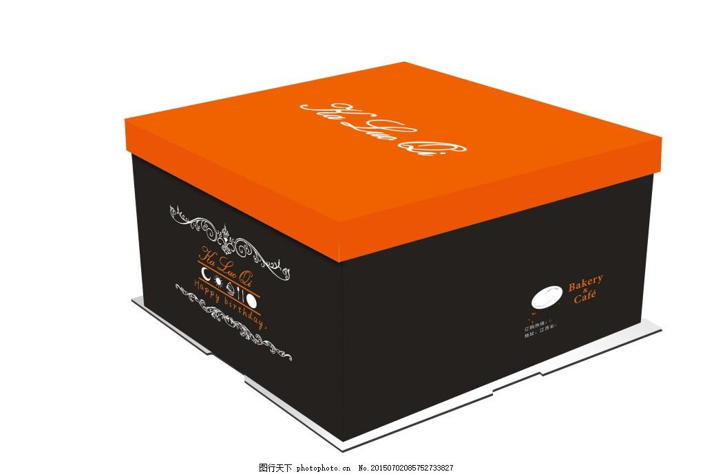 包装设计 蛋糕 广告设计 简约平面展开图蛋糕 墨绿 简约 欧式