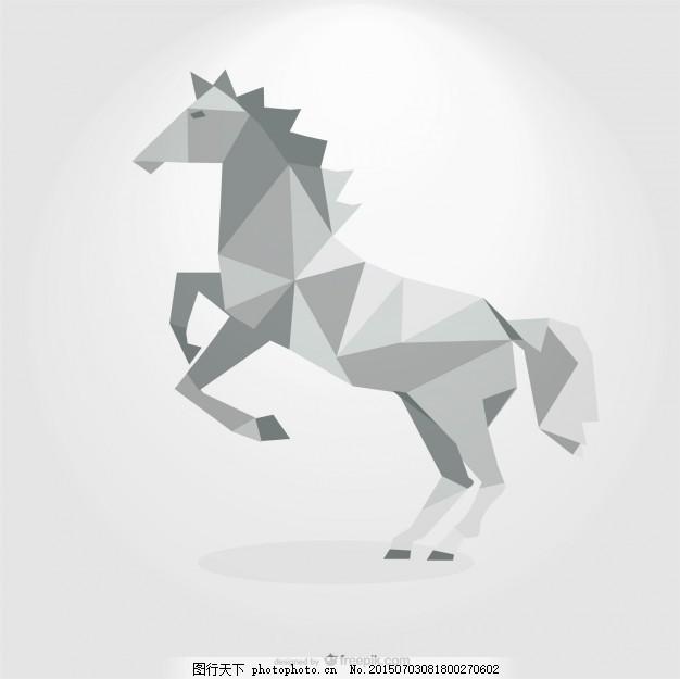 标志 设计 几何 三角 动物 标志设计 马 多边形 中国 运行 能源 形状
