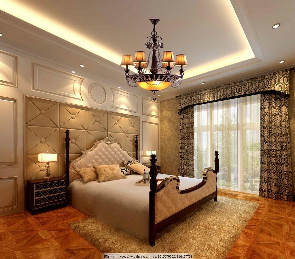 卧室3dmax 室内效果图 3d效果图 卧室装饰 卧室装修 欧式卧室 卧室