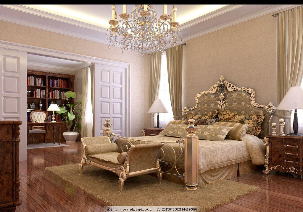 欧式别墅卧室室内设计
