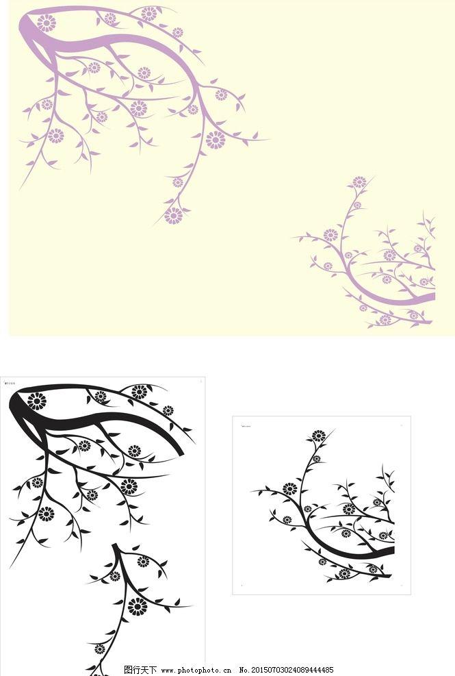 梅花树枝简笔画3