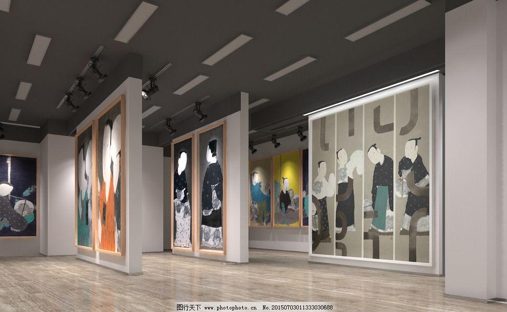 作品展示空间图片_室内设计_装饰素材_图行天下图库