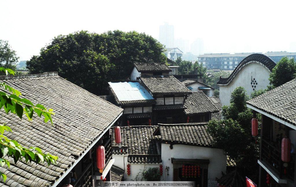 磁器口 古建筑 古建筑俯视图 重庆古镇 特色建筑 摄影 旅游摄影 国内