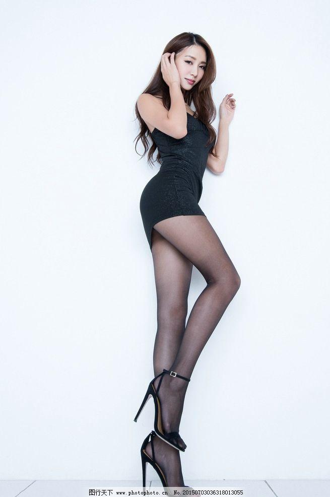 长腿 黑丝短裙 气质腿模