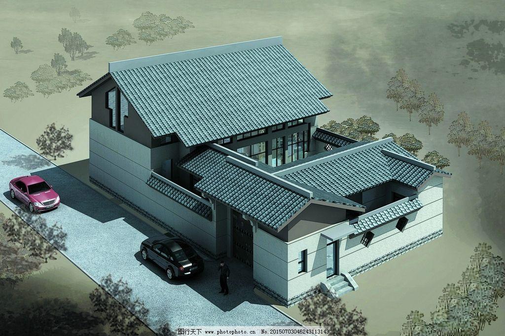 别墅外景平面图手绘