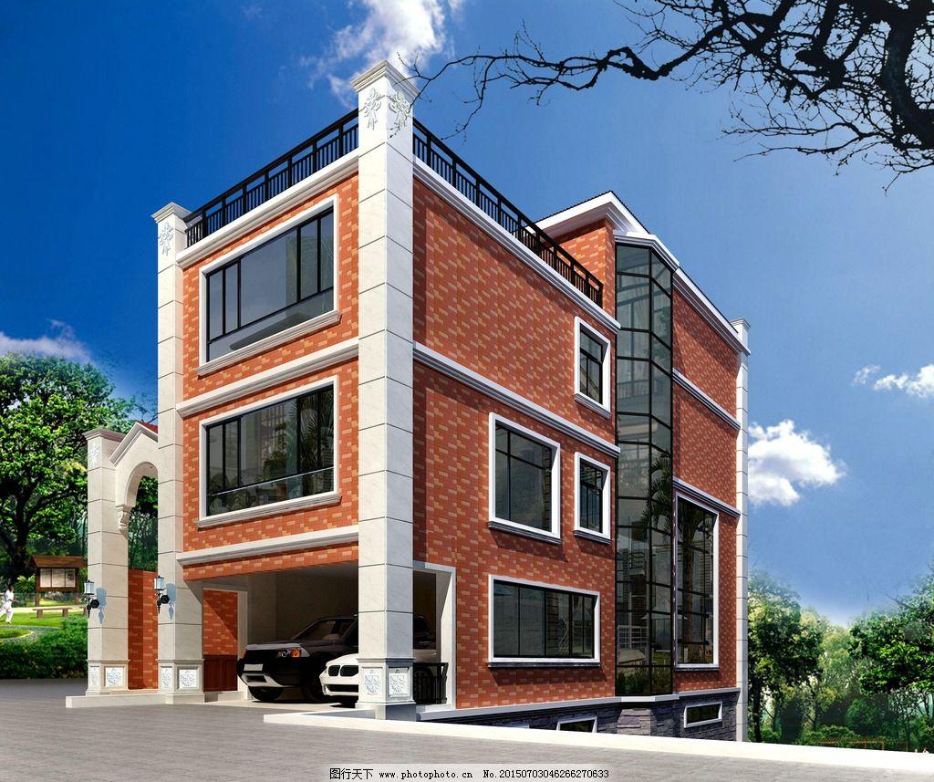钢结构别墅外观图片