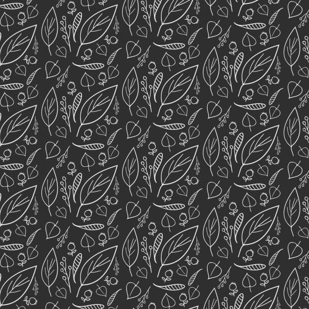 黑色手绘花型