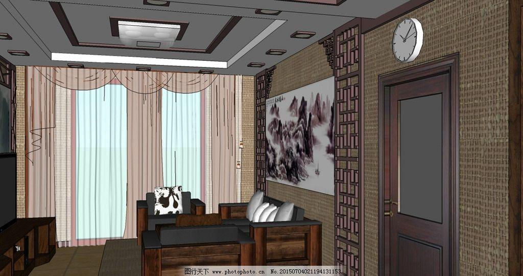 su中式室内装修效果图图片