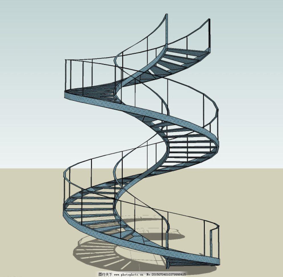 钢结构旋转楼梯图片