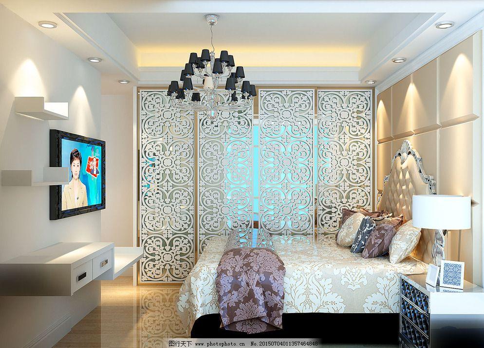 卧室效果图 欧式房间效果 大理石效果 欧式效果图 房间效果图 主人房