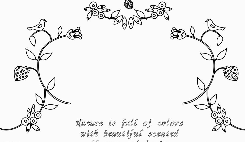 环保类黑白插画手绘图片