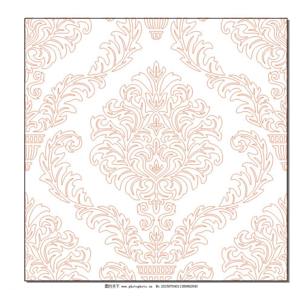 欧式花纹底纹 黑白花纹边框 装饰线条元素 欧式 花纹 欧式背景 无缝图片