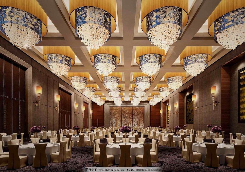 酒店宴会厅效果图图片