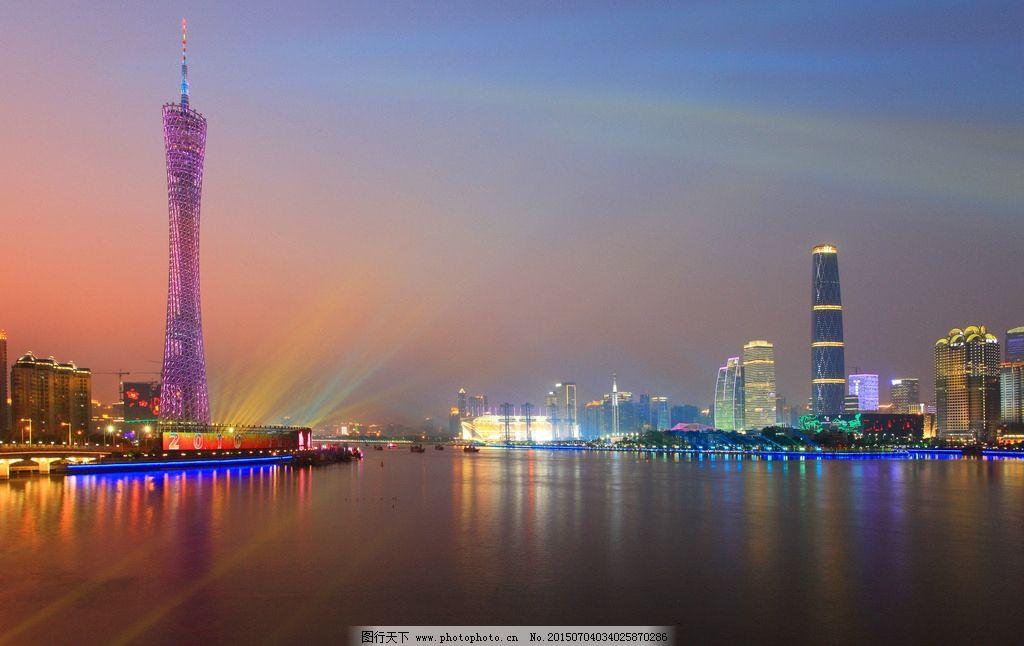 广州塔 灯塔 高楼 大厦 景观 建筑 夜景 灯塔夜景 摄影 旅游摄影 国外