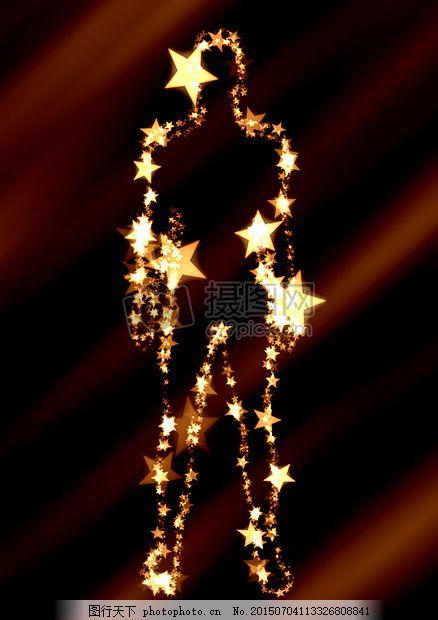 男子 剪影 明星 十二生肖 人的 大纲 符号 新时代     红色 jpg
