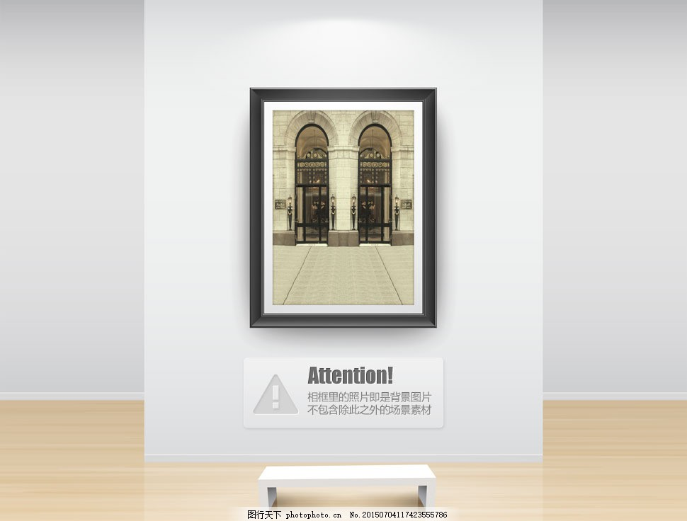 拱形门欧式建筑物影楼摄影背景图片