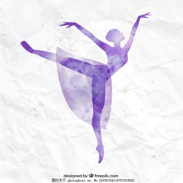 手绘的芭蕾舞演员
