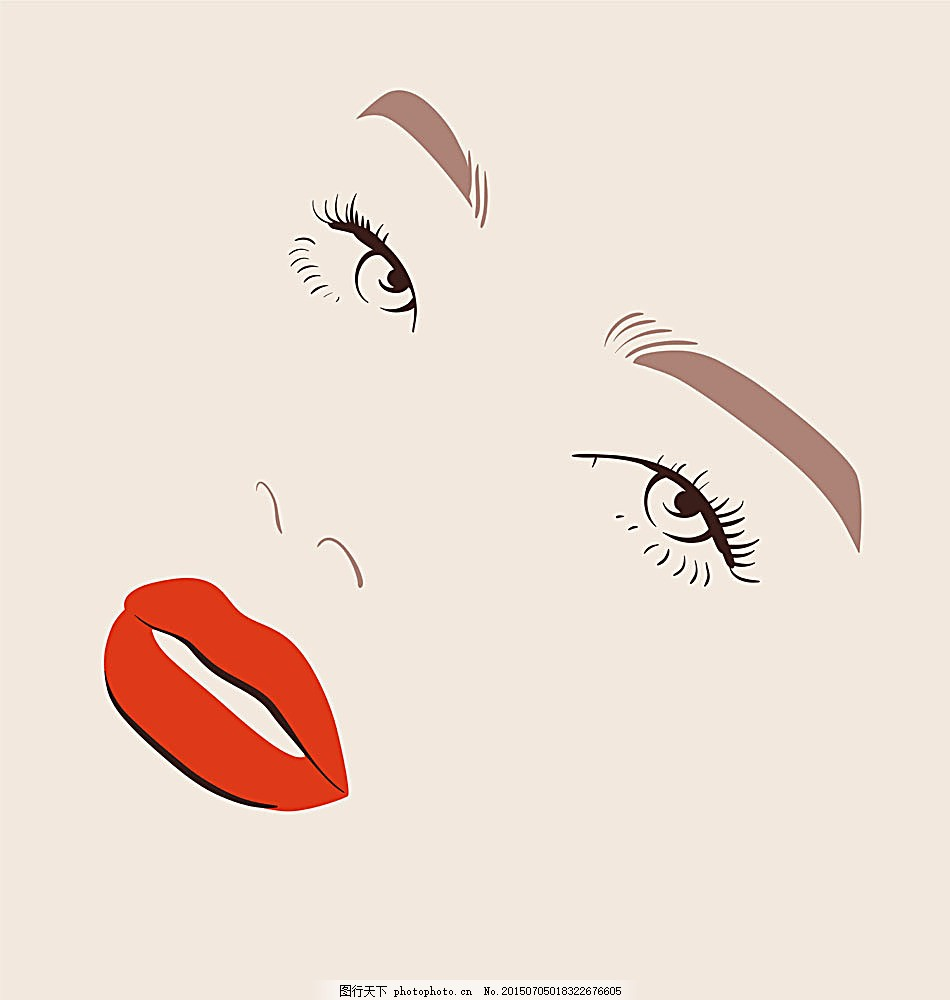 美丽女人精致五官 简笔画 精致五官 女人面孔 漂亮女人 时尚女人 性感