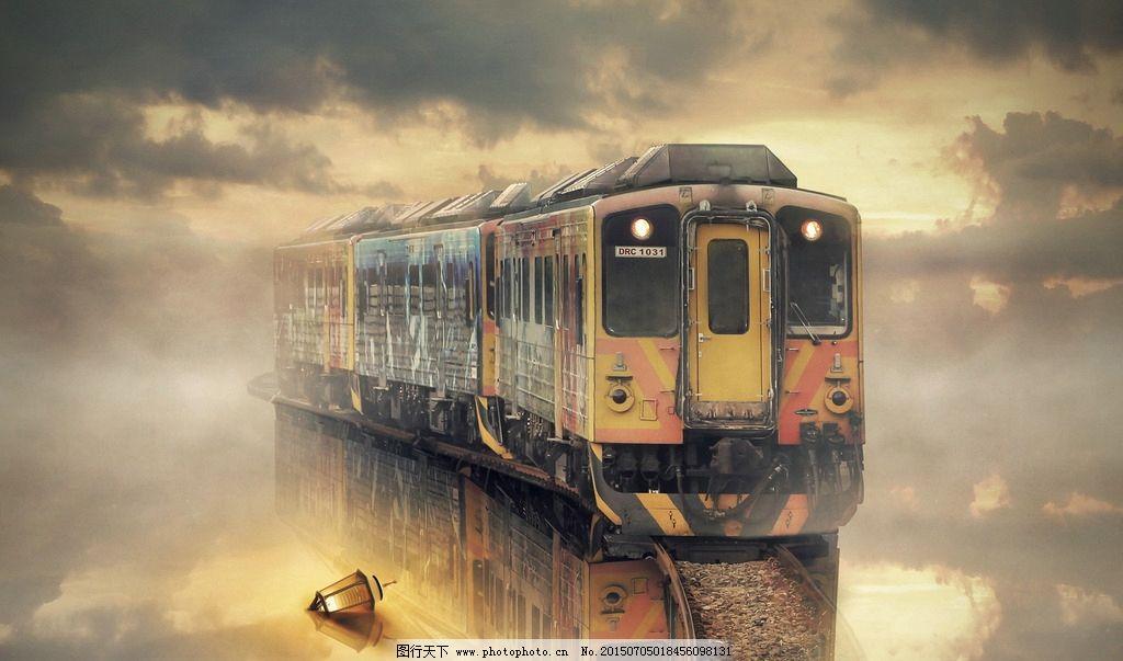 火车绘画图片